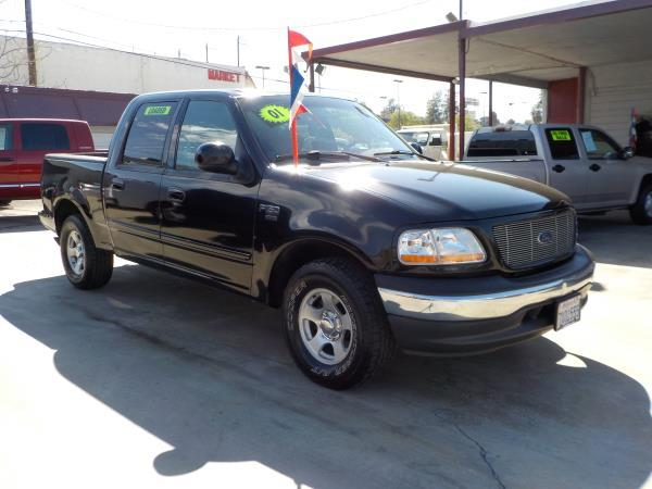2001 FORD F-150 SUPER CREW blackgrey automatic air conditioneralarmamfm radioanti-lock brak