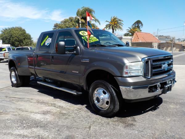 2007 FORD F-350 CREW DUALLY 4WD charcolegrey automatic air conditioneralarmamfm radioanti-l