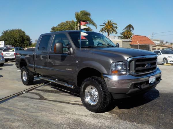 2004 FORD F-350 CREW CAB 4WD charcolegrey auto air conditioneramfm radioanti-lock brakescd