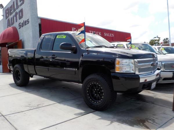 2008 CHEVROLET SILVERADO 1500 X CAB 4 DOOR blackblack auto air conditioneralarmamfm radioan