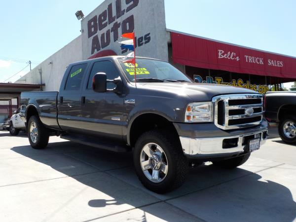 2006 FORD F-350 CREW LONG 4WD charcolegrey auto air conditioneralarmamfm radioanti-lock bra