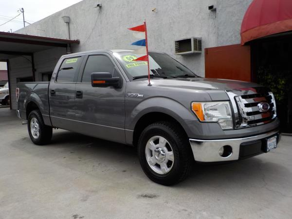 2009 FORD F-150 SUPER CREW charcolegrey automatic air conditioneralarmamfm radioanti-lock b