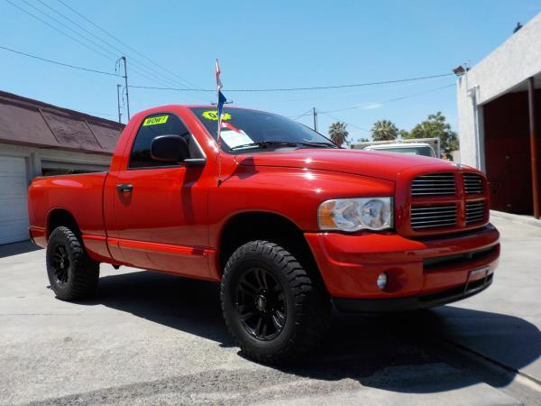 2004 DODGE RAM PICKUP 1500 REG CAB SB redcharcole auto air conditioneralarmamfm radioanti