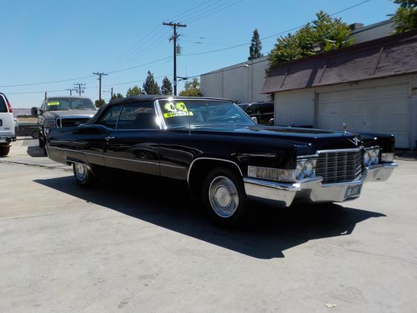 1969 CADILLAC DEVILLE blackblack automatic air conditioneralarmamfm radiopower lockspower