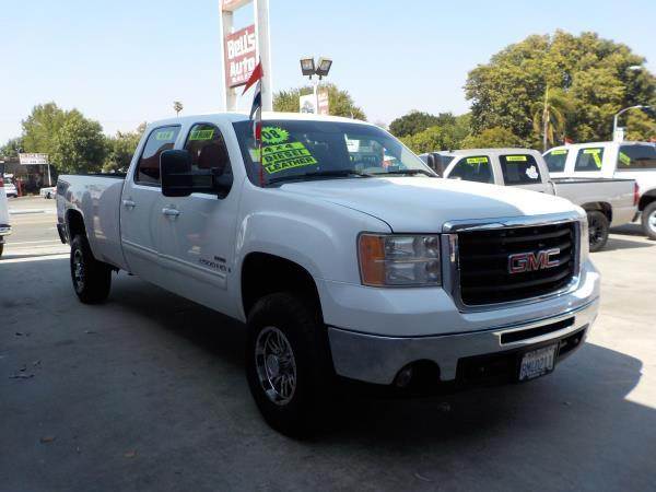 2008 GMC SIERRA 2500HD CREW whitegrey automatic air conditioneralarmamfm radioanti-lock bra