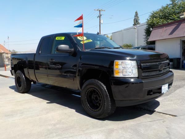 2007 CHEVROLET SILVERADO 1500 X CAB blackblack automatic air conditioneralarmamfm radioanti