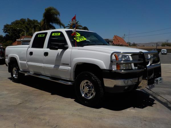 2004 CHEVROLET SILVERADO 2500HD CREW 4WD whitecharcole automatic air conditioneralarmamfm ra