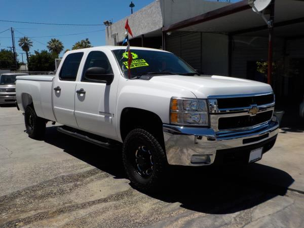 2008 CHEVROLET SILVERADO 2500HD CREW whitegrey automatic air conditioneralarmamfm radioanti