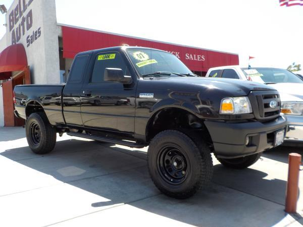 2007 FORD RANGER SUPER CAB blackgrey automatic air conditioneramfm radioanti-lock brakescd