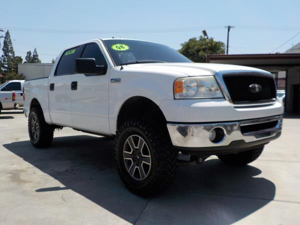 2008 FORD F-150 SUPER CREW whitegrey automatic air conditioneralarmamfm radioanti-lock brak