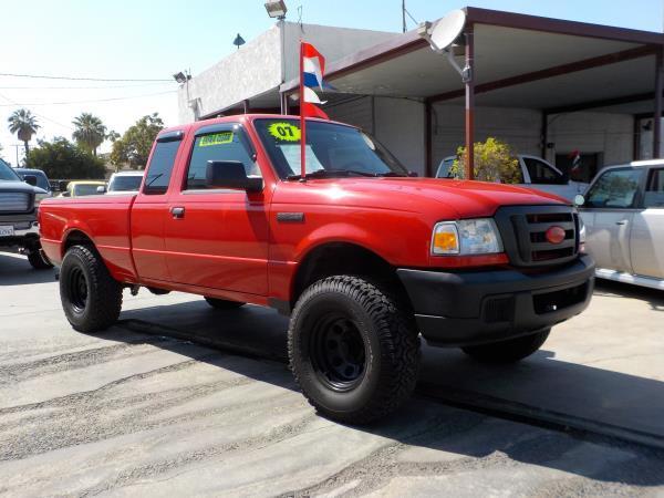 2007 FORD RANGER SUPER CAB redblackgrey automatic air conditioneramfm radioanti-lock brakes