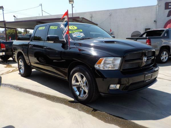 2012 RAM 1500 CREW CAB blackblack automatic air conditioneralarmamfm radioanti-lock brakes