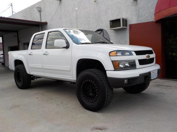 2012 CHEVROLET COLORADO CREW CAB whiteblack automatic air conditioneralarmamfm radioanti-lo