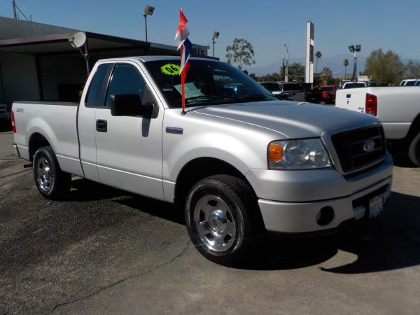 2006 FORD F-150 STANDARD CAB silvergrey cloth automatic air conditioneralarmamfm radioanti-