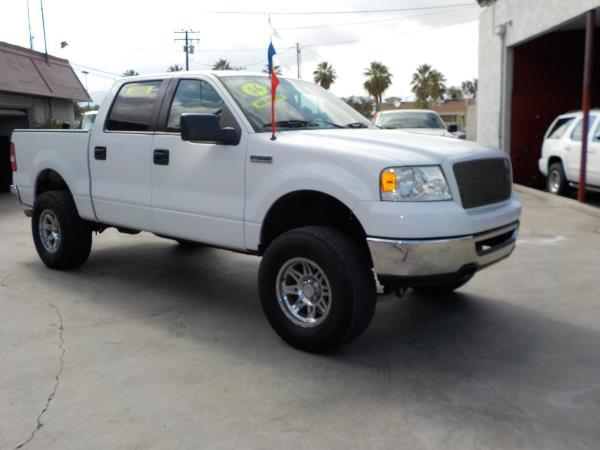 2006 FORD F-150 SUPER CREW whitegrey automatic air conditioneralarmamfm radioanti-lock brak