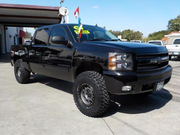2007 CHEVROLET SILVERADO 1500 CREW blackblack auto air conditioneralarmamfm radioanti-lock