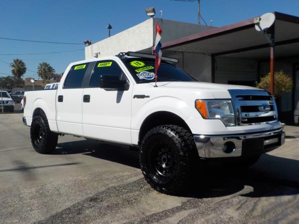 2013 FORD F-150 SUPER CREW whitegrey automatic air conditioneralarmamfm radioanti-lock brak