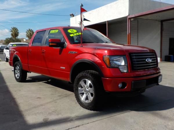 2011 FORD F-150 SUPER CREW FX4 wine fireblack automatic air conditioneralarmamfm radioanti-