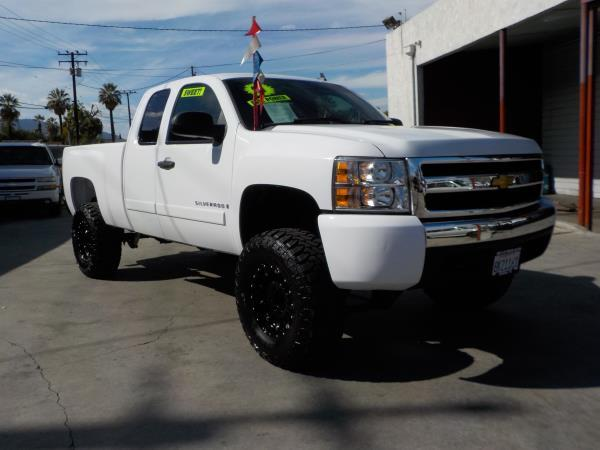 2007 CHEVROLET SILVERADO 1500 X CAB whiteblack auto air conditioneralarmamfm radioanti-lock