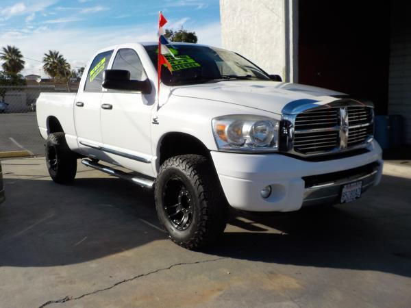 2007 DODGE RAM PICKUP 3500 QUAD whitegrey automatic air conditioneralarmamfm radioanti-lock