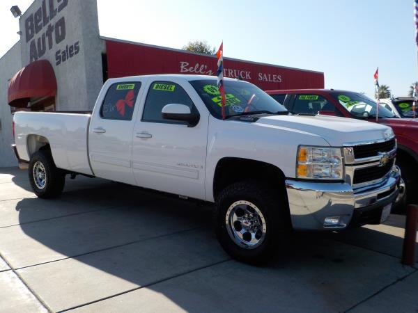 2009 CHEVROLET SILVERADO 2500HD CREW whiteblack auto air conditioneralarmamfm radioanti-loc