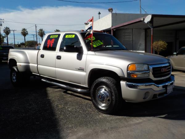 2005 GMC SIERRA 3500 DUALLY silver birchgrey automatic air conditioneralarmamfm radioanti-l