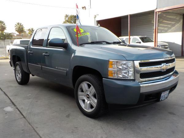 2008 CHEVROLET SILVERADO 1500 CREW smoke blueblack automatic air conditioneralarmamfm radio