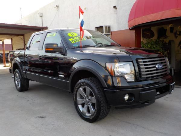 2011 FORD F-150 SUPER CREW  FX4 blackblack automatic air conditioneralarmamfm radioanti-loc