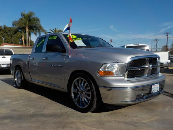 2011 DODGE RAM PICKUP 1500 QUAD CAB silvergrey automatic air conditioneralarmamfm radioanti