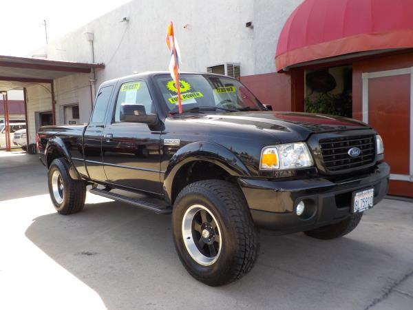 2008 FORD RANGER SUPER CAB blackblack auto air conditioneralarmamfm radioanti-lock brakesc