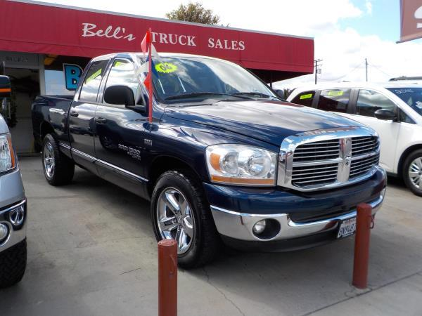 2006 DODGE RAM PICKUP 1500 QUAD bluegrey cloth automatic air conditioneralarmamfm radioanti