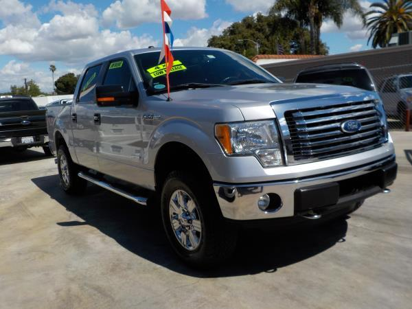 2011 FORD F-150 SUPER CREW 4WD silvergrey auto air conditioneralarmamfm radioanti-lock brak