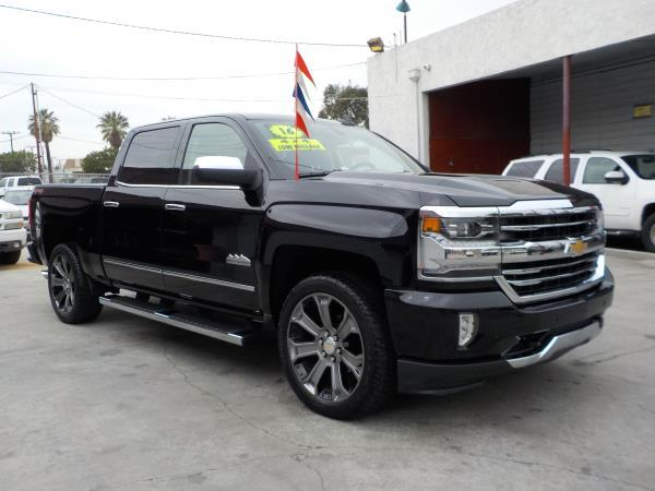 2016 CHEVROLET SILVERADO CREW 4WD blackbrown auto air conditioneralarmamfm radioanti-lock b