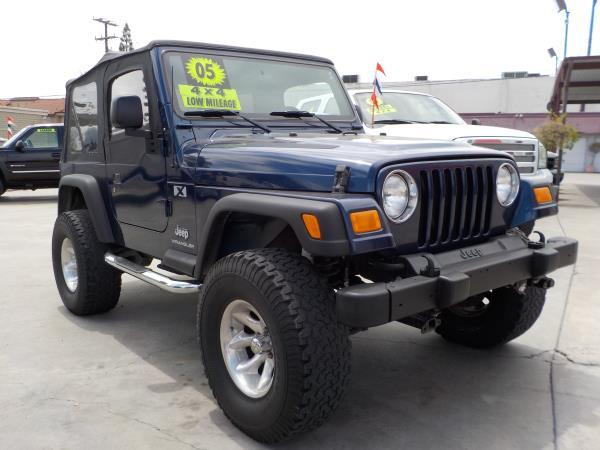 2005 JEEP WRANGLER bluecharcole 6 speed manual air conditioneramfm radioanti-lock brakescd