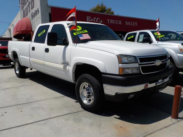 2006 CHEVROLET SILVERADO 2500HD CREW whitecharcole auto air conditioneralarmamfm radioanti-