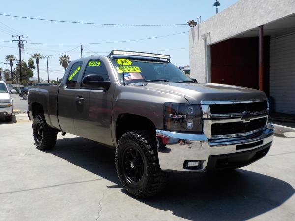 2008 CHEVROLET SILVERADO 2500HD X CAB smoke greyblack automatic air conditioneralarmamfm rad