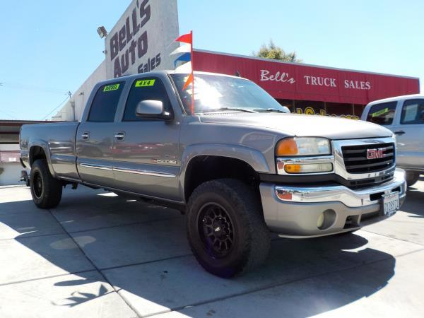 2006 GMC SIERRA 2500HD CREW 4WD smoke graygrey automatic air conditioneralarmamfm radioanti