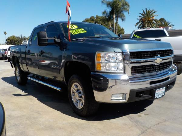 2007 CHEVROLET SILVERADO 2500HD CREW smoke blueblack auto air conditioneralarmamfm radioant