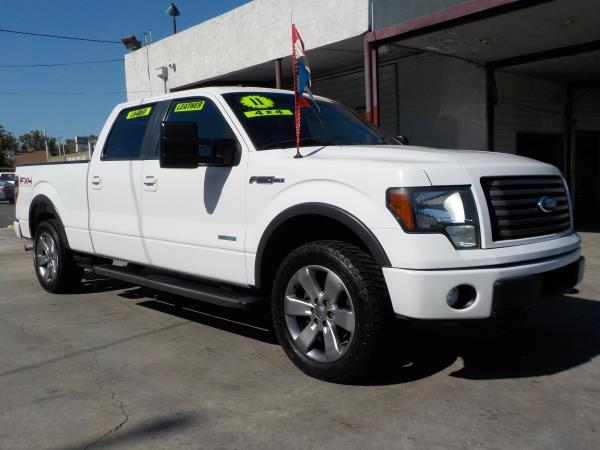 2011 FORD F-150 CREW FX4 whiteblack automatic air conditioneralarmamfm radioanti-lock brake