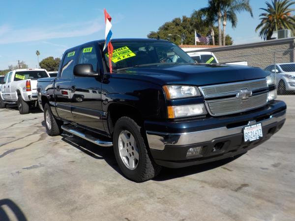 2007 CHEVROLET SILVERADO CLASSIC 1500 CREW dark bluegrey automatic air conditioneralarmamfm