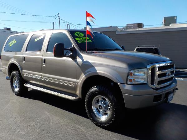 2005 FORD EXCURSION mineral greyblacktan automatic air conditioneralarmamfm radioanti-lock