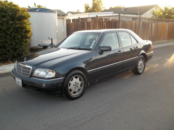 1996 MERCEDES C220 blueblack automatic air conditioneralarmamfm radioanti-lock brakescasse