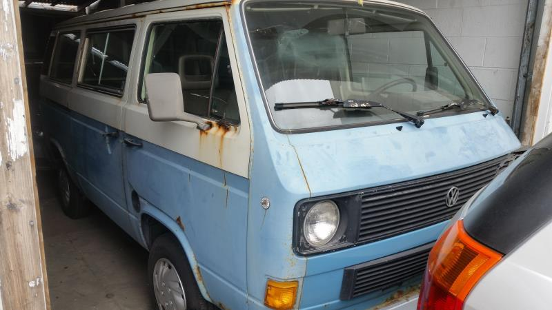 1983 VOLKSWAGEN VANAGON blue 5 speed manual Stock 1224 VIN WV2YB025XDH091437