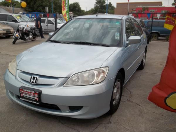 2004 HONDA CIVIC blue charcoal auto air conditioneralarmamfm radioanti-lock brakescassette