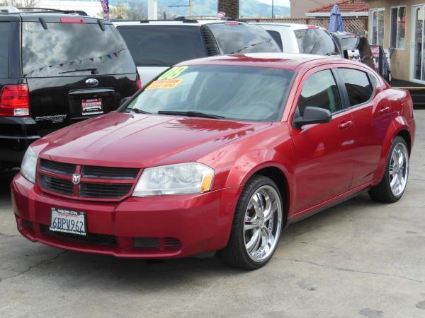 2008 DODGE AVENGER redblack automatic air conditioneralarmamfm radioanti-lock brakescd pla