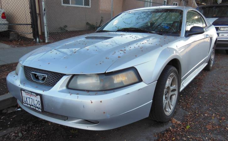 2000 FORD MUSTANG silverblack automatic air conditioneralarmamfm radioanti-lock brakescass
