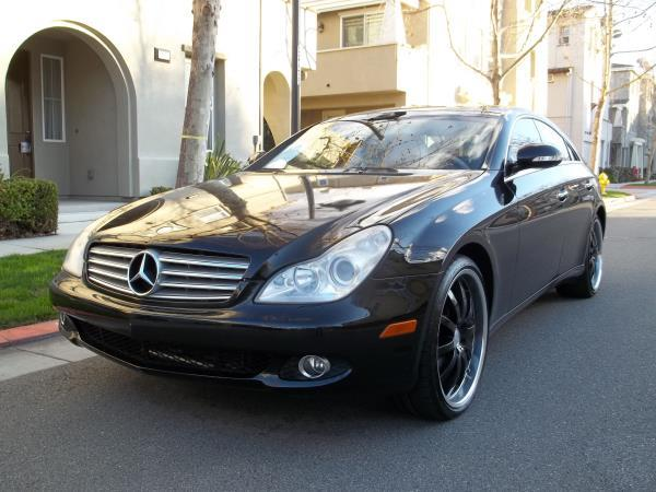 2007 MERCEDES CLS-CLASS blackblack 6 spd od tiptronic air conditioneralarmamfm radioanti-lo