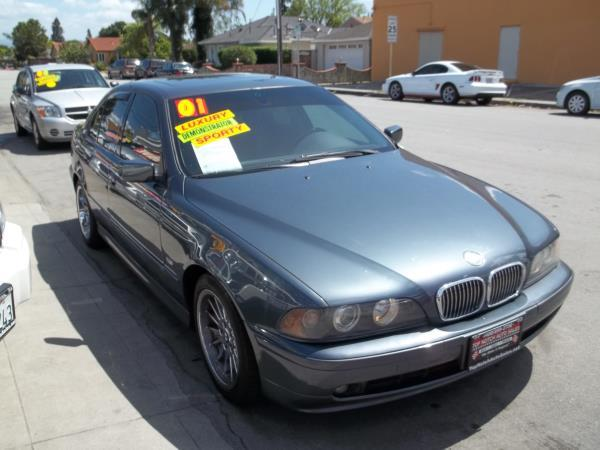 2001 BMW 5 SERIES charcoalblack 5 speed automatic air conditioneralarmamfm radioanti-lock b