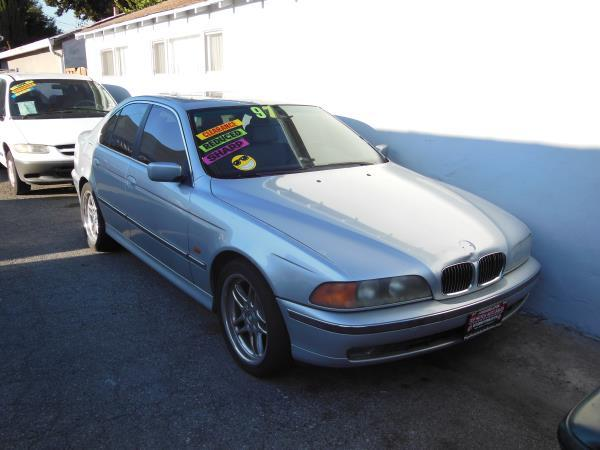 1997 BMW 5 SERIES silverblack 5 speed automatic air conditioneralarmamfm radioanti-lock bra