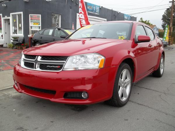 2013 DODGE AVENGER redblack automatic air conditioneralarmamfm radioanti-lock brakescd pla